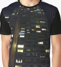 Architecture, New York, Manhattan, Brooklyn, New York City, architecture, street, building, tree, car,   Graphic T-Shirt