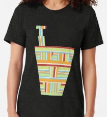 Stripped Engineering (Facemadics colorful contemporary abstract face) Tri-blend T-Shirt