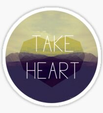 Take Heart Sticker