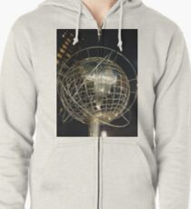 Sphere, New York, Manhattan, Brooklyn, New York City, architecture, street, building, tree, car,   Zipped Hoodie