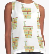Stripped Engineering Repeat (Facemadics abstract face colorful face) Sleeveless Top