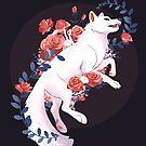 Weiße Blume Wolf von sophieeves90