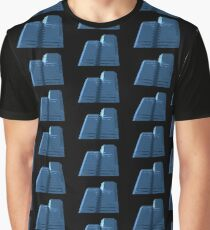 Blue Groovy Gray Repeat (Facemadics colorful abstract photography) Graphic T-Shirt