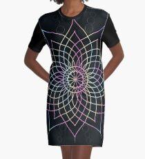 Rainbow Mandala Graphic T-Shirt Dress