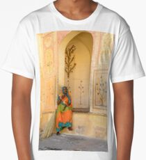 Workers in Amer Fort 01 Long T-Shirt
