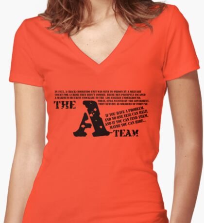 A-TEAM Women's Fitted V-Neck T-Shirt