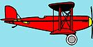 Red Biplane  by FrankieCat
