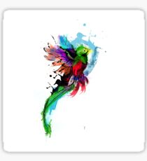 WaterColor Quetzal from Guatemala Sticker