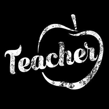 Teacher Distressed Merch by Dmurr