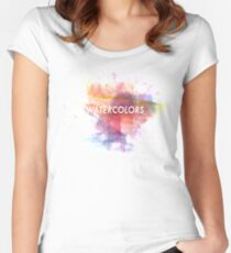 WATERCOLORS Women's Fitted Scoop T-Shirt