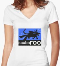 scubaroo Women's Fitted V-Neck T-Shirt