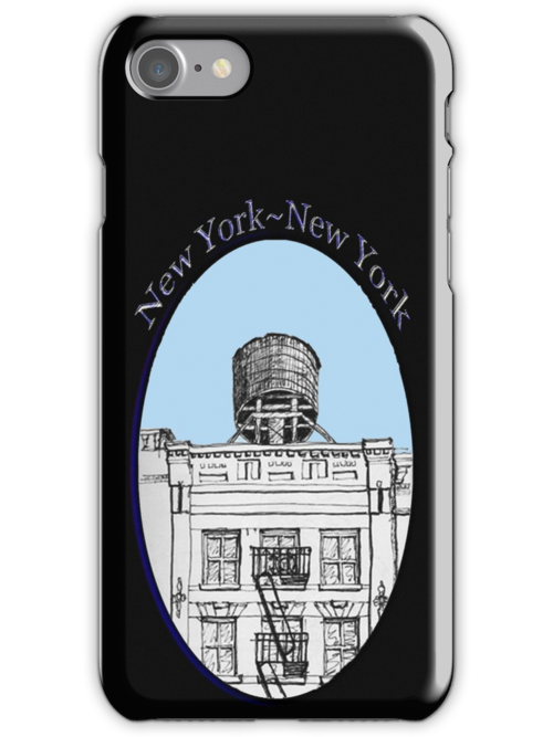 NYC-Water tower above SoHo building by James Lewis Hamilton