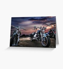 Harley davidson greeting cards redbubble harley davidson beautiful sunset greeting card m4hsunfo
