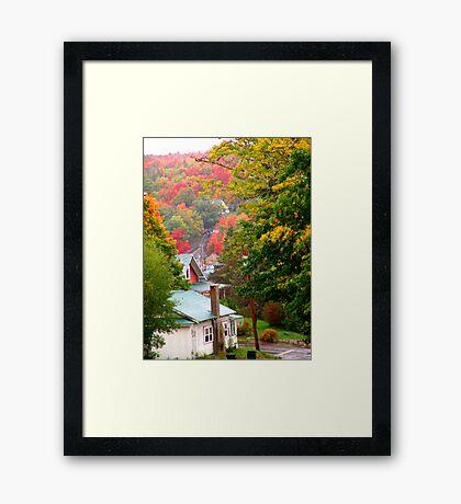 Homes in Bear River Framed Print