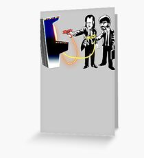 Pulp Fiction Banksy Greeting Card