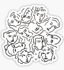CMBYN faces Sticker