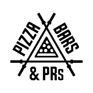 Pizza, Bars and PRs Fitness Triangle v2 by brogressproject