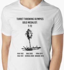 Olympia T-72 Schwarz T-Shirt mit V-Ausschnitt für Männer