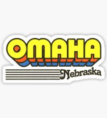 Omaha, Nebraska | Retro Stripes Sticker