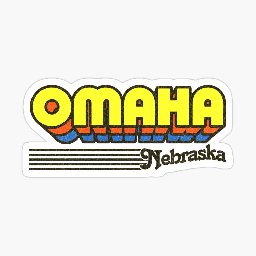 Omaha, Nebraska | Retro Stripes Sticker