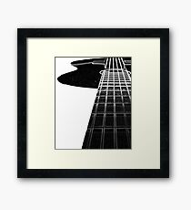 Black Acoustic Guitar Cool Musician Player Music T-Shirt Framed Print