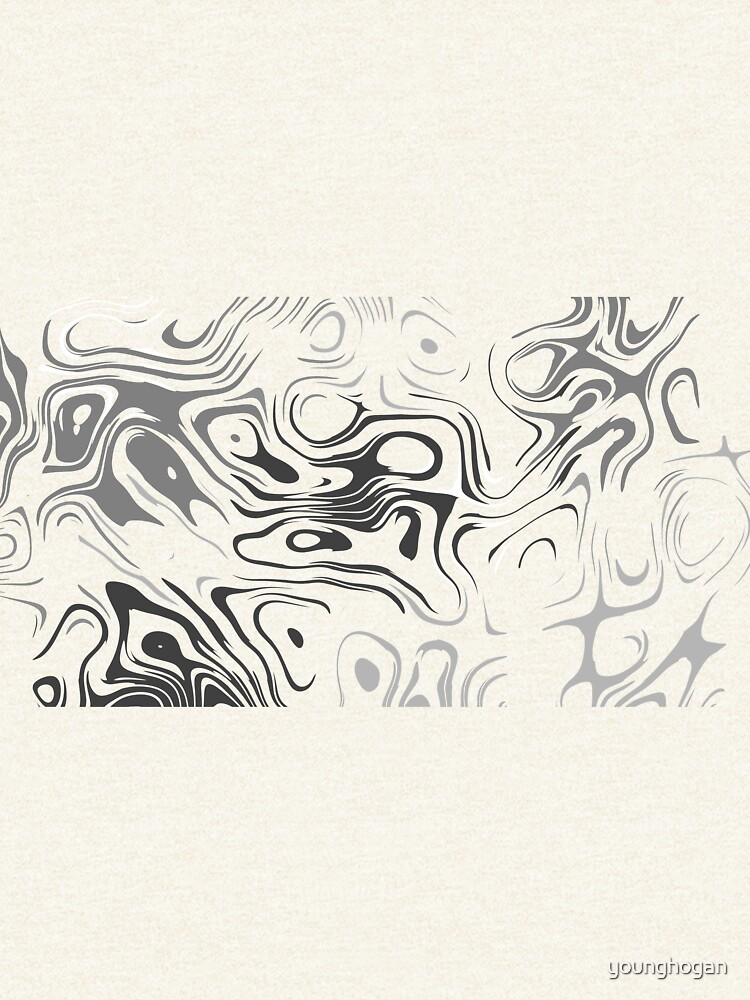 Black And White Liquid von younghogan