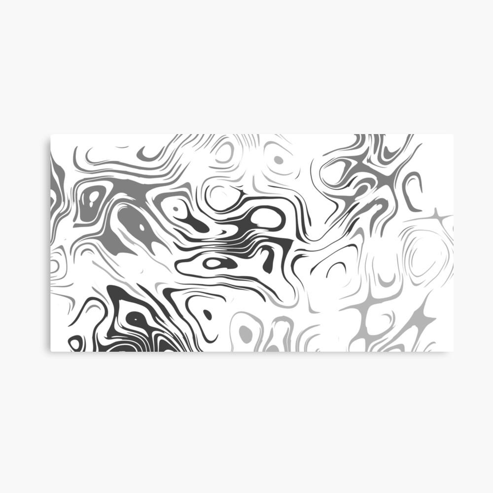 Black And White Liquid Leinwanddruck