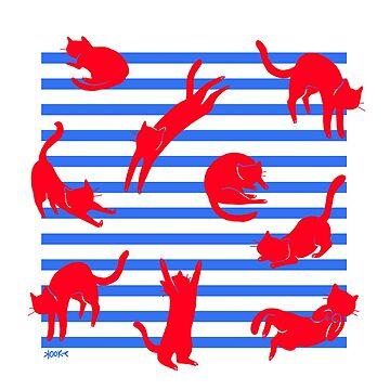 Cat Stripes by kookylane