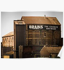 Brains Brewery, Cardiff, Wales Poster