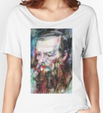 FYODOR DOSTOYEVSKY - watercolor portrait.7 Women's Relaxed Fit T-Shirt