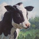 Friesian Cow portrait by martyee