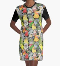 Colour of Conures Graphic T-Shirt Dress