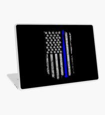 Crochet USA Flag (The Thin Blue Line) Laptop Skin