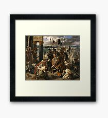 The Entry of the Crusaders into Constantinople 1840 Eugène Delacroix Framed Print