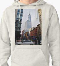 New York, Manhattan, Brooklyn, New York City, architecture, street, building, tree, car,   Pullover Hoodie