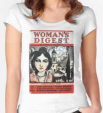 Vintage 1930s Womans Digest Magazine Women's Fitted Scoop T-Shirt
