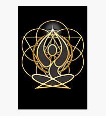 Meditation Geometry Yoga Goddess Mandala Photographic Print