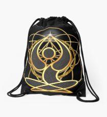 Meditation Geometry Yoga Goddess Mandala Drawstring Bag