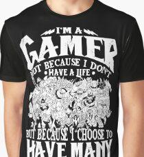 Dota 2 Shirts: Ich bin ein (DOTA) Spieler. Nicht weil ich kein Leben habe, sondern weil ich viele habe! Grafik T-Shirt
