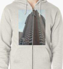Condominium, New York, Manhattan, Brooklyn, New York City, architecture, street, building, tree, car,   Zipped Hoodie