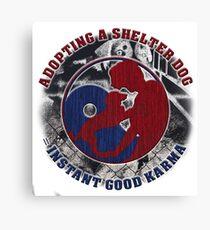Adopt a shelter dog Canvas Print