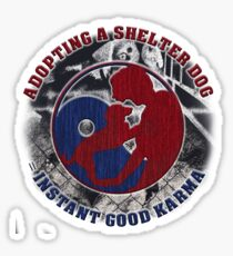 Adopt a shelter dog Sticker