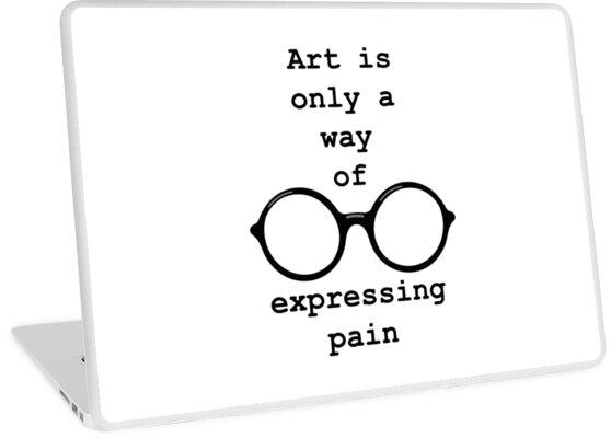 John Lennon Zitat Schmerz Ausdrücken Laptop Folie By Getitgiftit