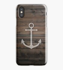 Anchor wood iPhone Case