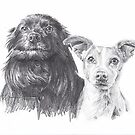 dog kin drawing by Mike Theuer