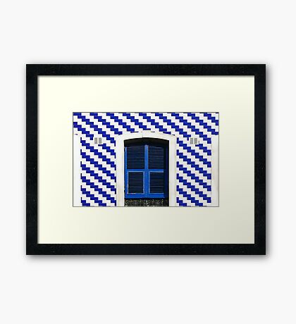 Blue & White Framed Print