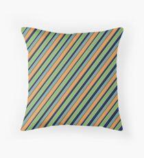 Oblique multi-colored stripes Throw Pillow