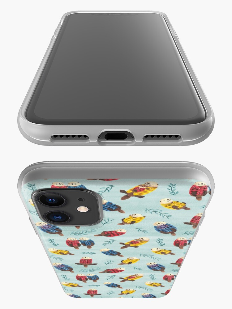 Alternate view of Sea Otters Wearing Plaid iPhone Case & Cover