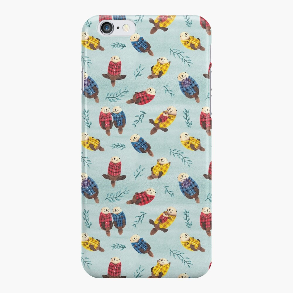 Sea Otters Wearing Plaid iPhone Case & Cover