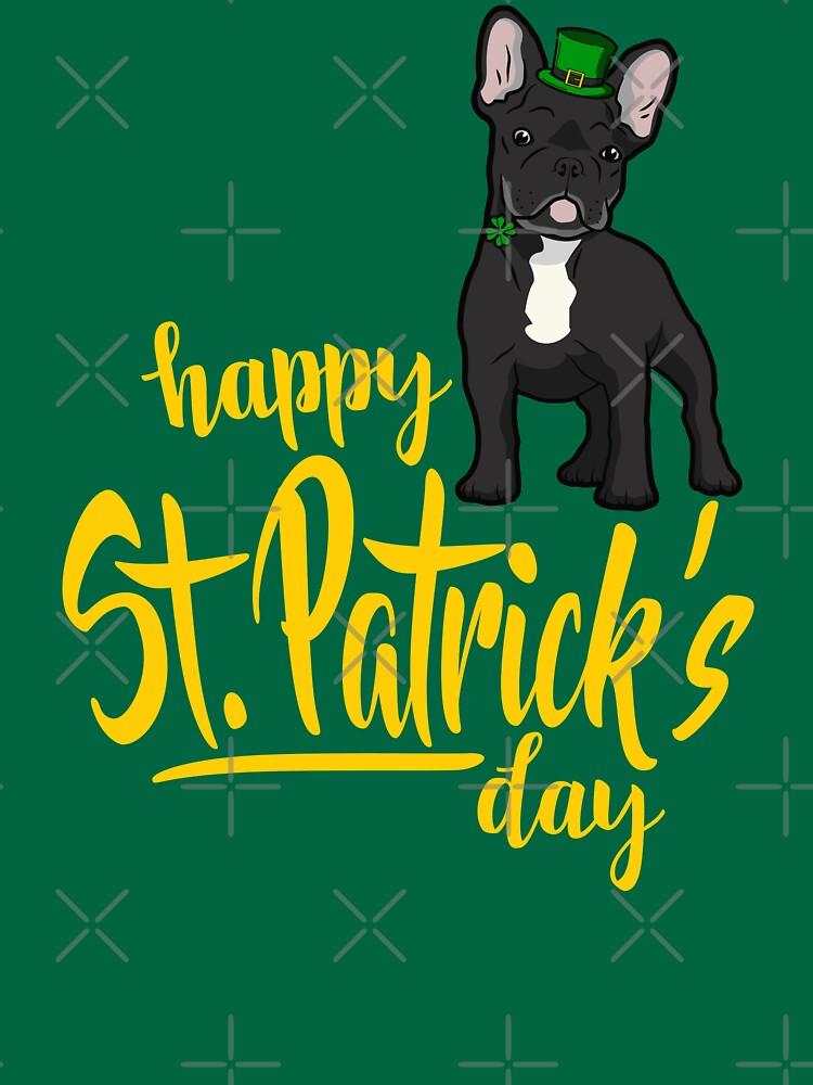 St Patricks Day French Bulldog by nameonshirt